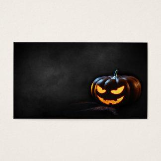 Citrouille Jack-o'-lantern de Halloween éffrayant Cartes De Visite
