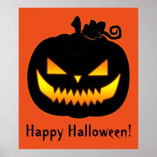 Citrouille mauvais de Halloween Affiche