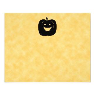 Citrouille, noir et orange de Halloween Prospectus 11,4 Cm X 14,2 Cm