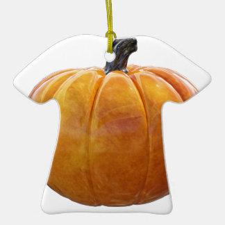 Citrouille orange classique ornement t-shirt en céramique