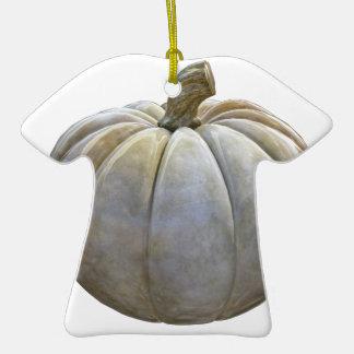 Citrouille pâle ornement t-shirt en céramique