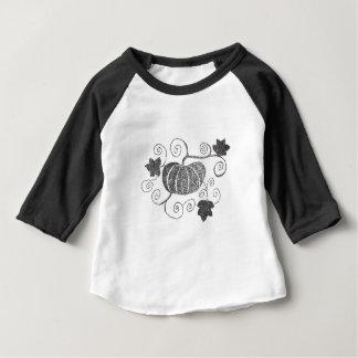 Citrouille pointillé t-shirt pour bébé