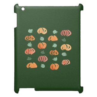 Citrouilles avec le coque ipad de matte de feuille