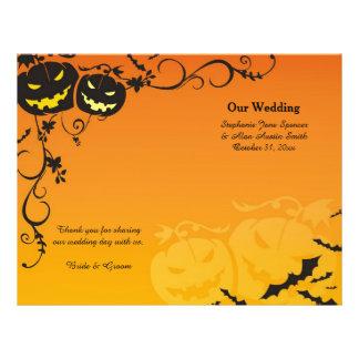 Citrouilles de Halloween épousant des programmes Prospectus 21,6 Cm X 24,94 Cm