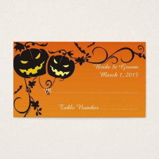 Citrouilles de Halloween épousant la carte