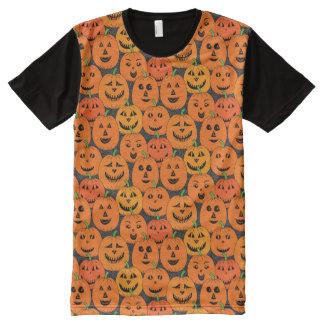 Citrouilles du feu follet de Halloween T-shirt Tout Imprimé