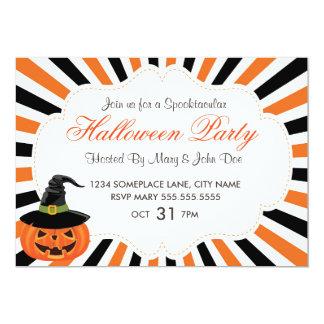 Citrouilles et invitation de partie de Halloween