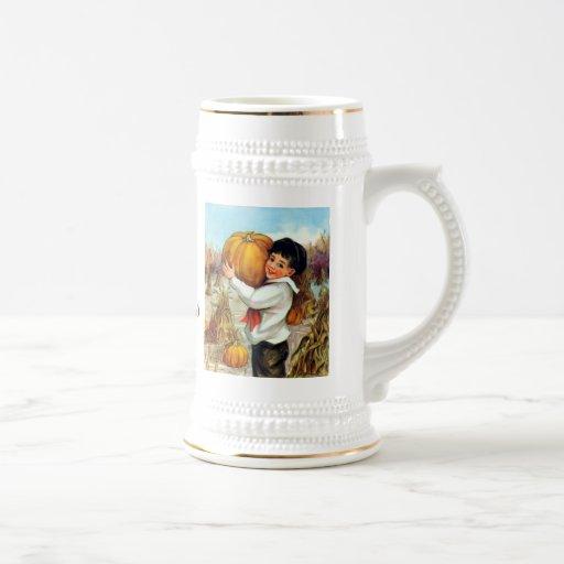 Citrouilles vintages tasse à café