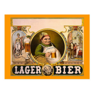 Civière de bière blonde allemande - la boisson carte postale