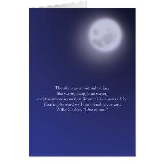 Clair de lune avec la citation cartes de vœux
