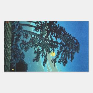 Clair de lune oriental frais d'arbre de Kawase de  Adhésifs