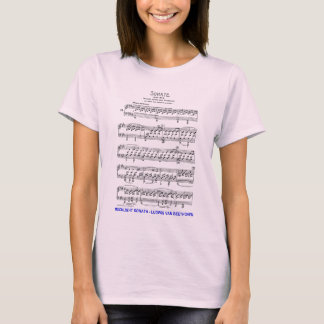 Clair de Lune-Sonate-Ludwig-Beethoven T-shirt