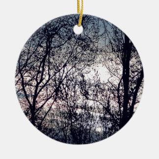 Clair obscur ornement rond en céramique