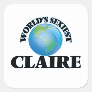 Claire la plus sexy du monde autocollant carré
