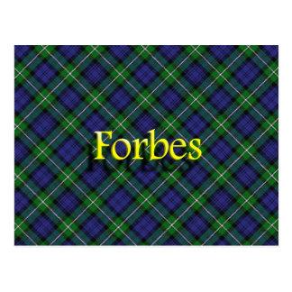 Clan écossais Forbes Cartes Postales