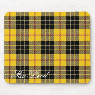 Clan écossais majestueux MacLeod de tartan de Tapis De Souris