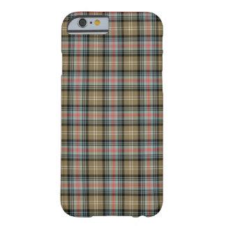 Clan Tan de Sutherland et tartan noir Coque Barely There iPhone 6