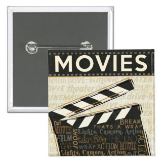 Clapet vintage de film badge carré 5 cm