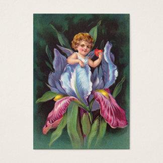 Clapsaddle : Iris d'ange de fleur Cartes De Visite