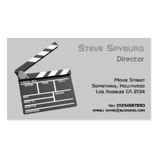 Claquette du studio cinématographique 3d carte de visite standard