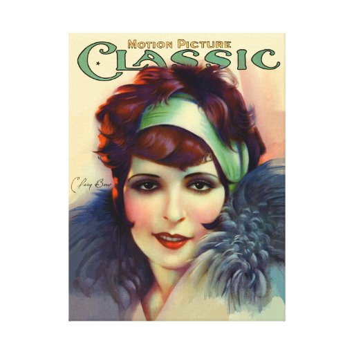 Clara Bow Impressions Sur Toile