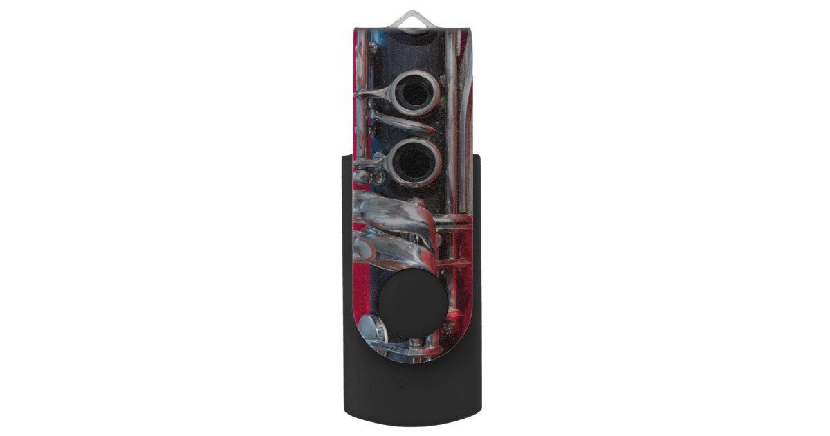 clarinette sur le rouge cl usb 3 0 swivel zazzle. Black Bedroom Furniture Sets. Home Design Ideas