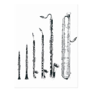 clarinettes carte postale