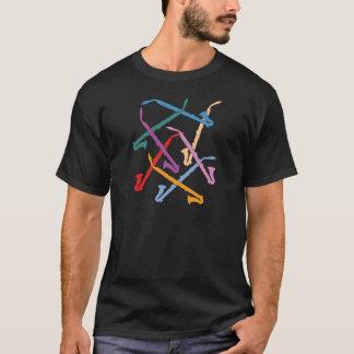 Clarinettes colorées d'alto t-shirt