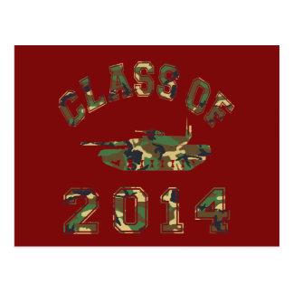 Classe 2014 de l'école militaire Camo 2 Carte Postale