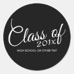 Classe avec d'année faite sur commande et de lycée autocollants ronds