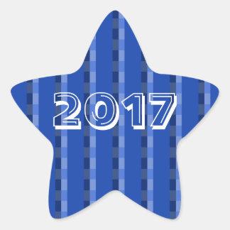 Classe d'autocollant de l'étoile 2017 bleue par sticker étoile