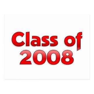 Classe de 2008 - cartes postales rouges