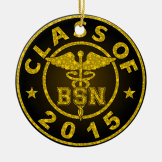 Classe de 2015 BSN Ornement Rond En Céramique