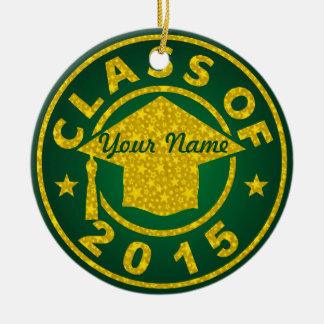 Classe de 2015 ornement rond en céramique