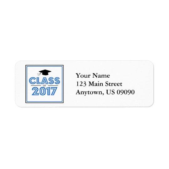 Classe de 2017 étiquettes de adresse de retour