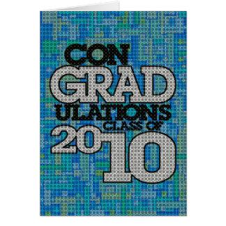 classe de conGRADulations de carte de 2010 bleus
