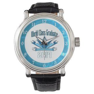 Classe de diplômé de classe du monde de montres bracelet