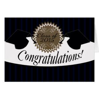 Classe de félicitations d'obtention du diplôme de carte de vœux