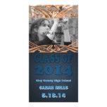 Classe de fête de remise des diplômes turquoise pe cartes de vœux avec photo