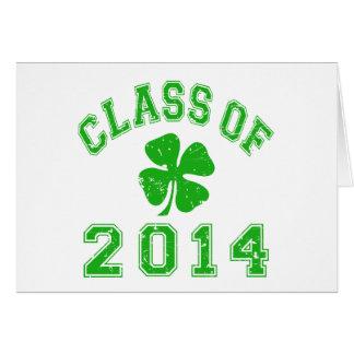 Classe de la bonne chance 2014 carte de vœux