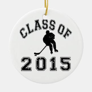 Classe de l'hockey 2015 ornement rond en céramique