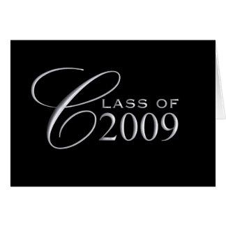 Classe de l'obtention du diplôme 2009 - masquez à carte de vœux