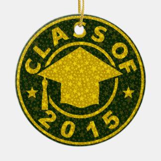 Classe de l'obtention du diplôme 2015 ornement rond en céramique