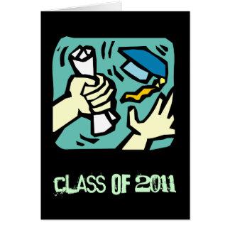 Classe d'obtention du diplôme de la carte de voeux
