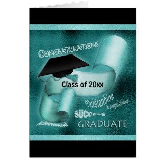 Classe d'obtention du diplôme de la sarcelle carte de vœux