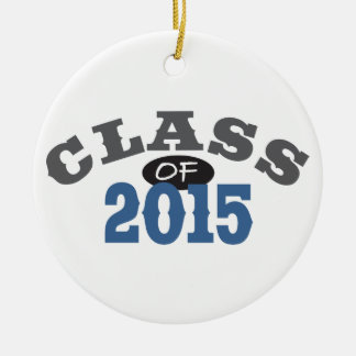 Classe du bleu 2015 ornement rond en céramique