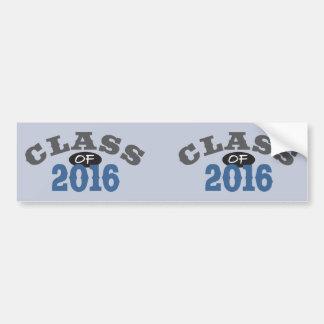 Classe du bleu 2016 autocollant pour voiture