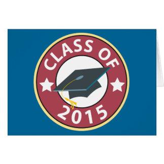 Classe du casquette 2015 d'obtention du diplôme cartes