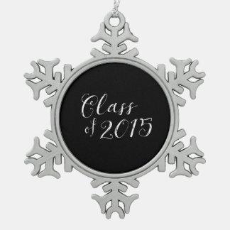 Classe du cru 2015 de style de tableau ornement flocon de neige pewter