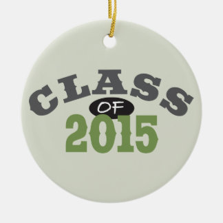 Classe du vert 2015 ornement rond en céramique